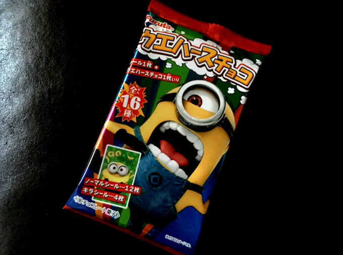シールにつられて購入したミニオンのお菓子。