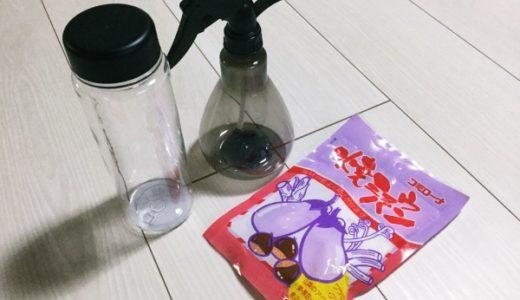 消臭スプレーを手作り!ミョウバンと水で簡単!作り方・使い方は